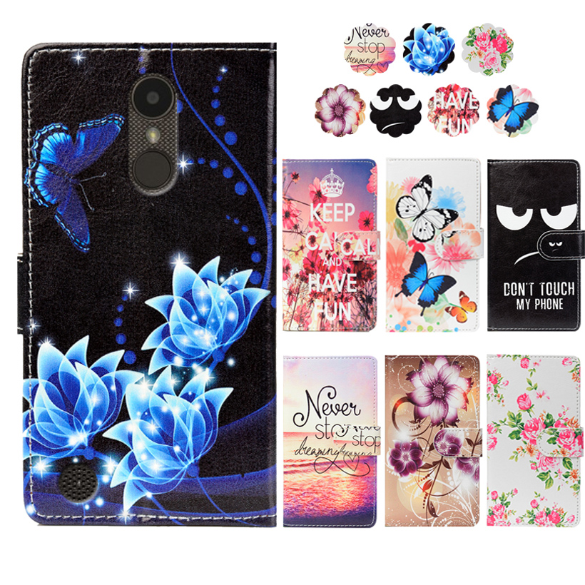 Fashion PU Leather Flip Print Wallet Case For LG Rebel 3
