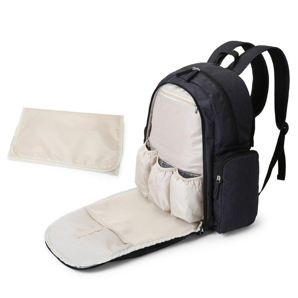 mommore bolsa de pañales para bebés con cojín cambiador pañales - Pañales y entrenamiento para ir al baño - foto 5