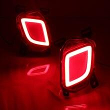 ПРИВЕЛО Заднего Bunper Сигнальные лампы Тормоза Автомобиля Свет Ходовые огни Вся Поверхность Светящиеся Для Toyota Highlander 2015 (одна Пара)