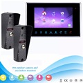 "7"" TFT LCD Color Video Doorphone Video Intercom Monitor Doorbell Camera Security System Night Vision 2 Outdoor 800TVL F1361D"