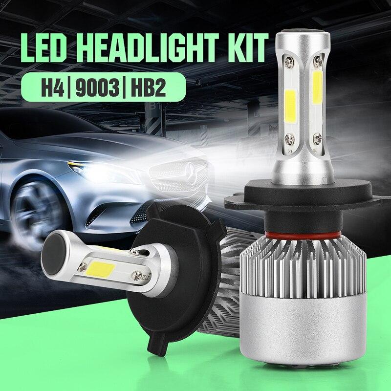 JXLCLYL 2 шт. H4/HB2/9003 COB светодиодный светильник Автомобильные фары передняя фара противотумансветильник фары комплект ламп холодный белый