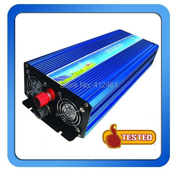цена на 12/24VDC to 110/220VAC 3000W 3000W Pure Sinewave Off Grid Solar and Wind Power Inverter
