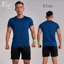 Kunli 2018 new mens tennis shirt outdoor sports O collar clothing running badminton basketball short T-shirt tee