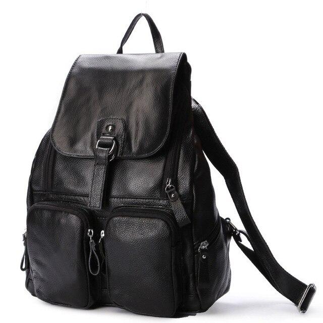 Женский рюкзак из натуральной кожи с карманами 4