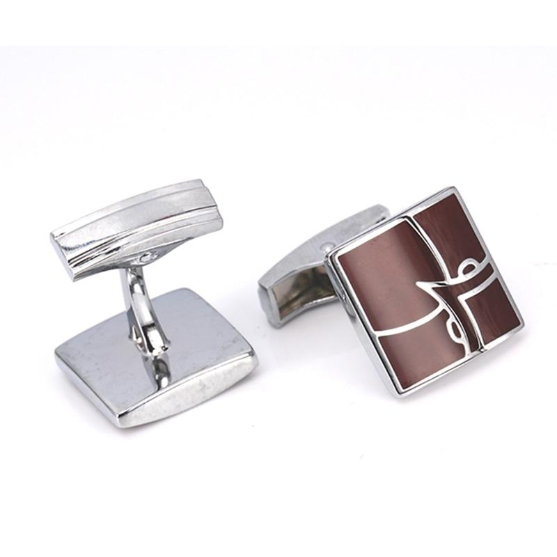 Fashionable men's clothing brand logo cufflinks, silver luxury decoration fashion cufflinks man symbol of wholesale/retail