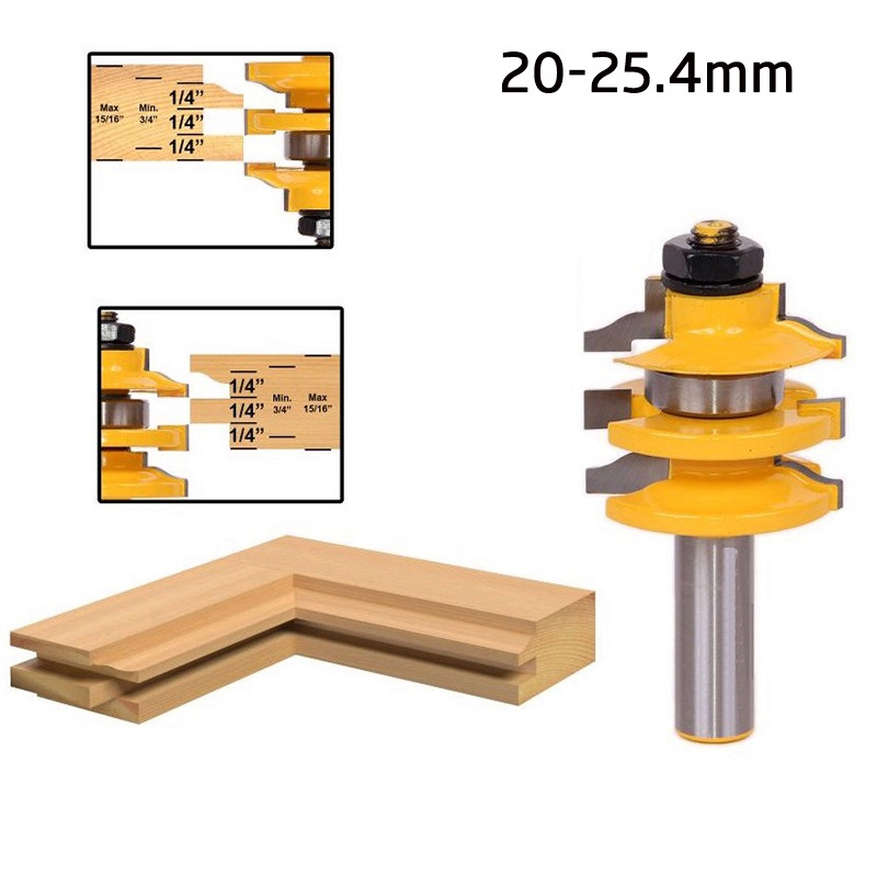 1PCS 1/2 Shank Matched Tongue Groove Router Bit Set Wood Milling Cutter Handle Single West Tenon Knife