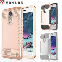 Vonada Case For LG K8 2017 LV3 Dual Layer Heavy Duty TPU PC Shockproof Armor Mobile