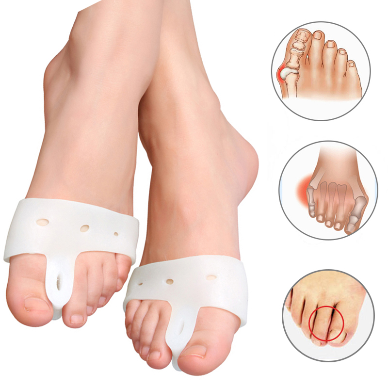 1Pair Hallux Valgus Bunion Corrector Foot Care Bone Thumb Orthopedic Brace Silicone Big Separator Separator Orthopeidc Pedicure Tools