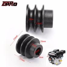 TDPRO 35mm OD 20mm ID V Belt Pulley Bore Die Double Groove For Honda 168F 170F GX110 GX120 GX160 GX200 7HP ATV Go Kart Engines elevator door motor belt pulley use for schindler qks9 od 320mm id 28mm