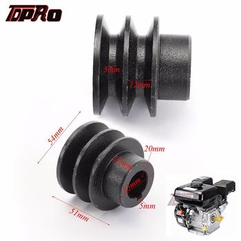 TDPRO 35mm OD 20mm ID V Belt Pulley Bore Die Double Groove For Honda 168F 170F GX110 GX120 GX160 GX200 7HP ATV Go Kart Engines engine power stop on off kill switch control for honda gx110 gx120 gx160 gx200 gx240