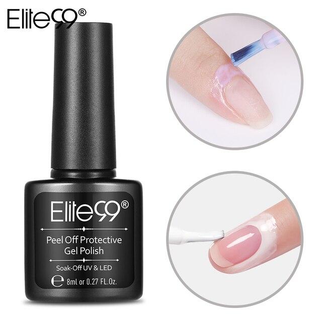 Elite99 Peel Off Flüssigkeit Nail art Weiß Rosa Band Latex Finger Haut Geschützt Kleber Basis Mantel Pflege Nail art Häutchen creme