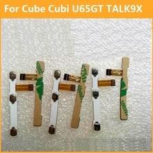 Premium activate off Power Volume button Flex cable For Cube Cubi U65GT TALK 9X conductive flex with sticker substitute components