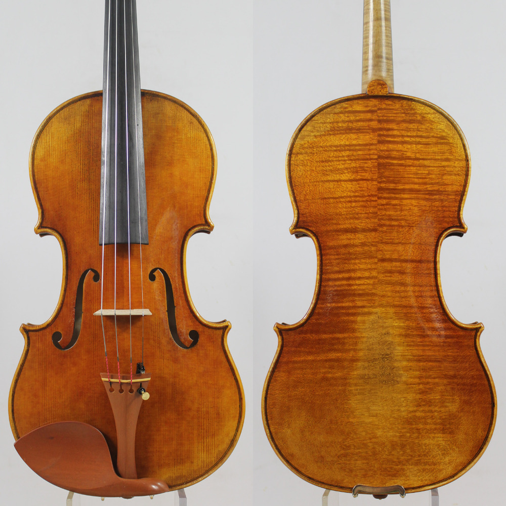 Special offer!!!Copy Antonio Stradivari 4/4 Violin All European Wood M7086 Free Shipping!Professional Sound! handmade new solid maple wood brown acoustic violin violino 4 4 electric violin case bow included