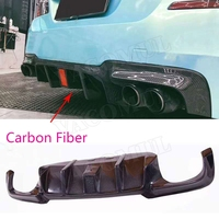 5 Series V Style Car Styling Carbon Fiber Rear Bumper Diffuser Lip Spoiler With Led Light Pilot Lamp for BMW F10 M5 2010 2016