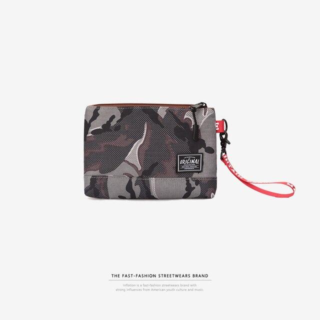 Инфляции 2018 Для мужчин портмона квадратный мешок руки Камуфляж кошелек мешок мобильного телефона Csaual клатч мешок денег Мода 171AI2018