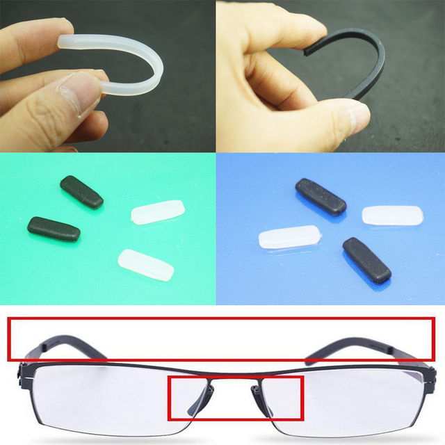48e405ba69fa Silicone Arms Cover Temple Tips Nose Pad For ic! Berlin Glasses Eyeglasses  Frame