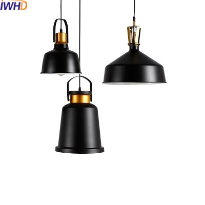 IWHD Iron Vintage Lamp Loft Industrial Pendant Lights Lighing Fixtures Retro Black Hanging Lamp Light Kitchen Luminaire Lampara american retro pendant lights luminaire lamp iron industrial vintage led pendant lighting fixtures bar loft restaurant e27 black