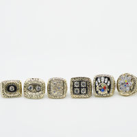6pcs Set Drop Shipping 1974 1975 1978 1979 2005 2008 Pittsburgh Steelers Championship Rings Replica With