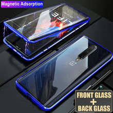 Double sided 9H glass Metal Magnetic Case For One Plus 7 Oneplus 7 Pro phone case 360 Full Protection Cover For Oneplus 7
