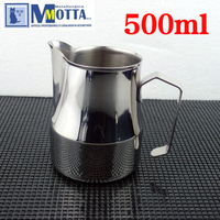 FeiC 500ml/17oz Stainless Steel Milk Pitcher/Jug Milk Foaming Jug/Teflon for Barista latte art