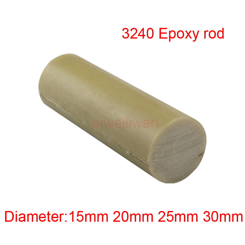 US $17 5 |15mm 20mm 25mm 30mm 3240 Epoxy rods epikote bar ethoxyline resin  stick Glass fiber round High temperature insulating rod 50cm-in Shafts from