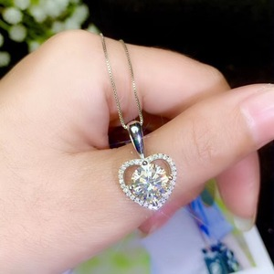 Image 5 - Super hot Moissanite necklace, 925 Sterling silver, carat gem, beautiful color, real moissanite