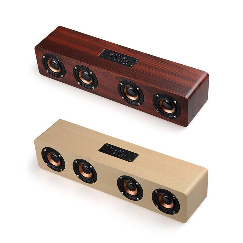 Itek Retro Wooden Wireless Bluetooth Hi-Fi Speakers Portable Stereo Subwoofer Soundbar with Mic Support Hands-free TF Card AUX 20w portable wooden high power bluetooth speaker dancing loudspeaker wireless stereo super bass boombox radio receiver subwoofer