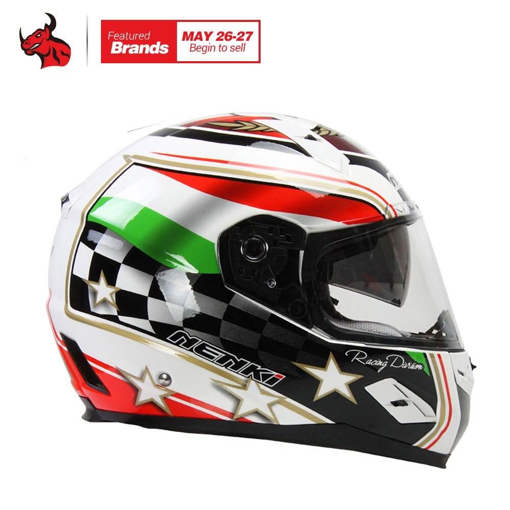 NENKI Fiberglass Motorcycle Helmet Motorcycle Full Face Riding Helmet Moto Helmets Road Motobike Helmet Moto Casque Capacetes