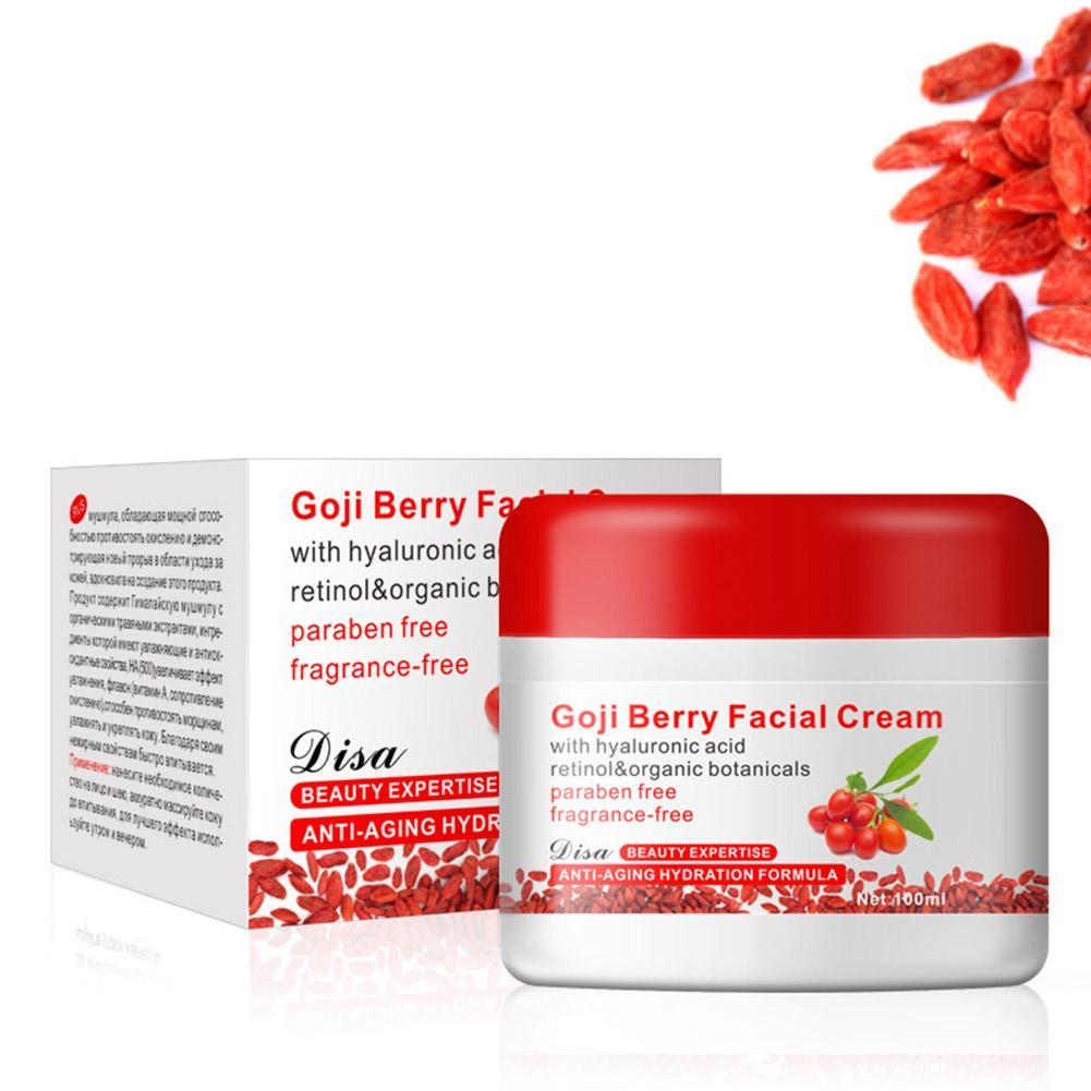 Hot Face Cream Natural Goji Essence Cream Skin Care Anti-wrinkle Firming Anti Aging Whitening Moisturizing Facial Cream