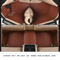 For Mercedes Benz C Klasse Luxury Leather Customize Car Floor Mats Black Grey Brown Non Slip