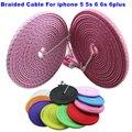 Бесплатная доставка .Длина 1 м / 2 м / 3 м .Для iPhone 5 5S 6 6 плюc.USB провод