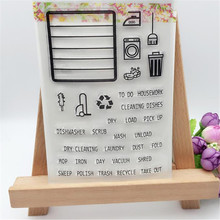 Cleaning Products Designs Transparent Clear Stamp DIY Silicone Seals Scrapbooking Card Making Photo Album Decoration Supplies