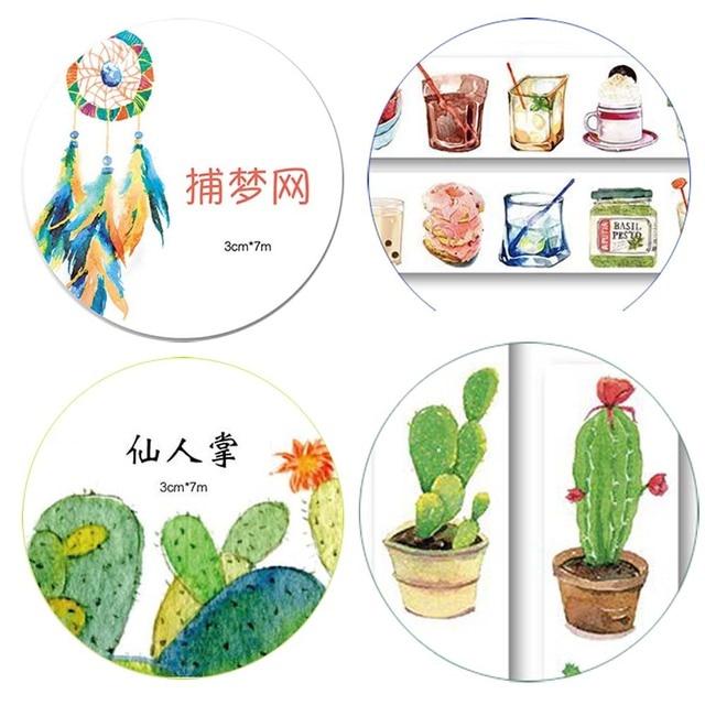¡ NUEVO!!! 18 Diseños Para Elegir Las Plantas 2.5-4 CM X 7 M cinta de Papel Washi Cinta Adhesiva Pegatinas Adhesivo Decorativo Cinta adhesiva XQT015