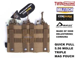 Image 5 - Militech twinfalcons tw delusted hypalon triplo m855 aberto superior mag saco molle compartimento bolsa combate militar 5.56x45 armazenamento