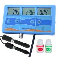 Многофункциональный 7 в 1 ОВП mV PH CF EC TDS стр./мин по Фаренгейту Цельсия метр тестер термометр мониторинга качества воды