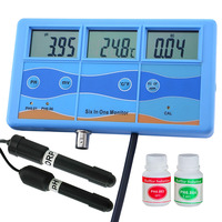 Multi function 7 in 1 ORP mV PH CF EC TDS ppm Fahrenheit Celsius Meter Tester Thermometer Water Quality Monitor