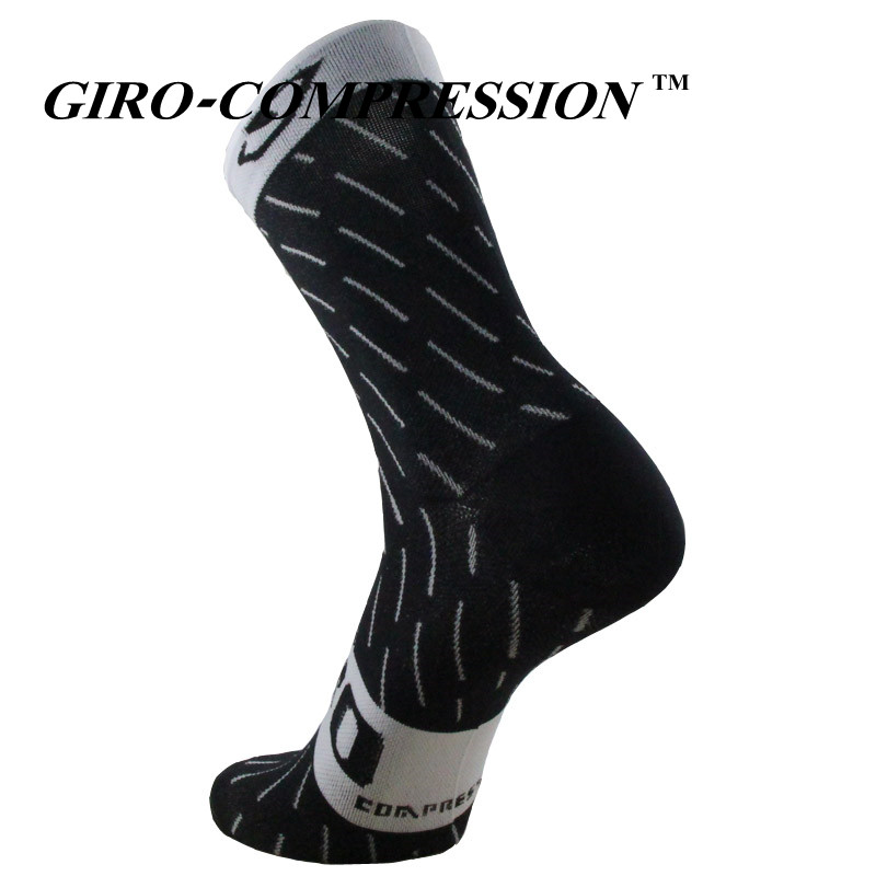 GIRO-COMPRESSION New Cycling Socks Top Quality Professional Brand Sport Socks Breathable Bicycle Sock Outdoor Racing Big Size sock
