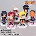 Naruto Figuras de Ação Naruto Gaara Sasuke Obito itachi Killer B PVC Brinquedos Figura 6 pçs/set NTFG017
