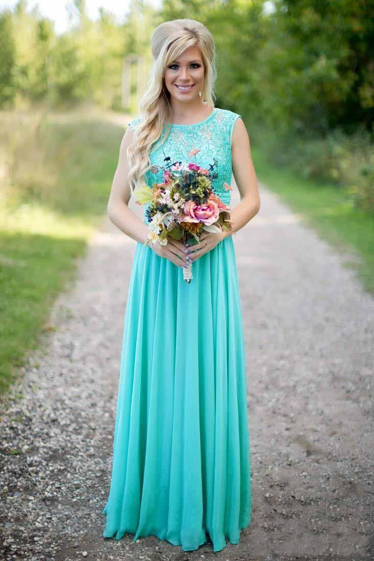 2016 turquoise bridesmaids dresses sheer jewel neck lace top 2016 turquoise bridesmaids dresses sheer jewel neck lace top chiffon long bridesmaid maid of honor wedding party dresses in bridesmaid dresses from weddings ombrellifo Gallery