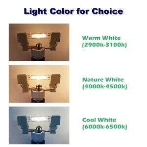 Image 3 - R7S cob led ランプ電球ガラス交換用ハロゲンライトスポットライト 78 ミリメートル 118 ミリメートル ac 220 v 230 v 5 ワット 9 ワット 13 ワットのエネルギー節約