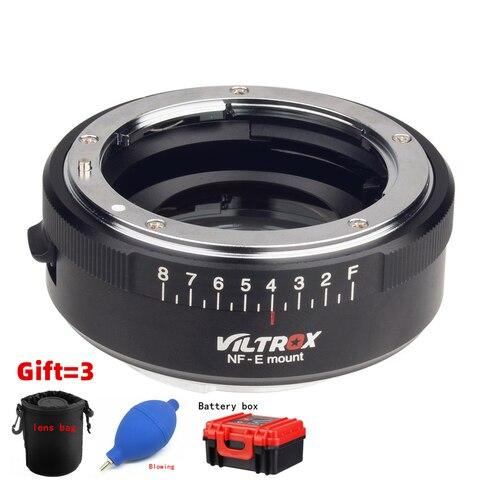 Anel de Abertura para Nikon Lens para Sony Viltrox Nf-e Lente Adaptador Reforço Velocidade Redutor Focal Turbo w – f A7riii A7sii A6300 A6500