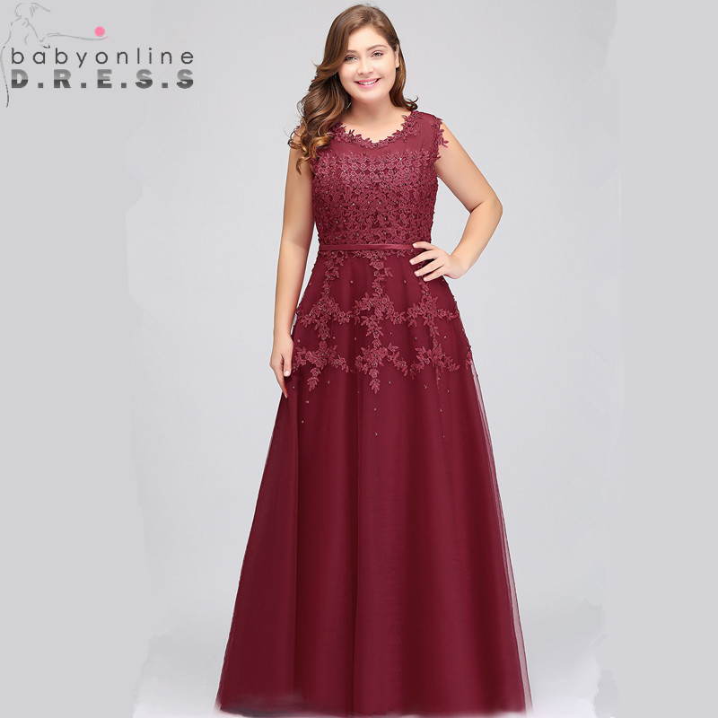 Luxury Beaded Lace Plus Size Prom Dresses Long Charming Transparent Back Burgundy Chiffon Prom Gown Vestido
