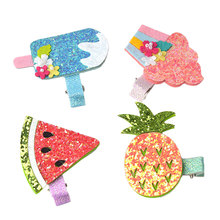 Hair Clips Baby hair accessories girl cute sweet shiny fruit series clip bangs summer baby gift