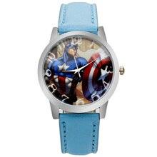Новинка 2017 года pinbo США капитан щит Панцири Мужские часы модные капитан щит шаблон студент кварцевые наручные часы Relogio Masculino