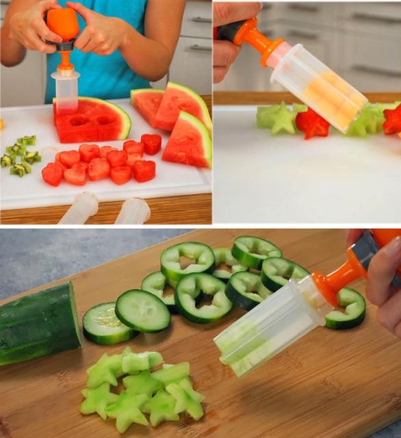 New 6 Shapes Cut Potato Tornado Watermelon Vegetable Fruit Salad