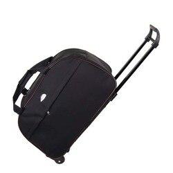 Składana walizka bagażowa Rolling pokrowiec na wózek o dużej pojemności torba podróżna na kółkach dla kobiet mężczyzn walizka podróżna torba podróżna
