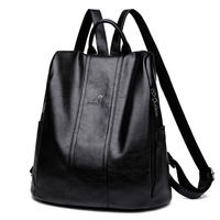 2019 New Soft Leather Backpack Women Vintage Anti Theft Backpack Female Rucksack Casual Daypack Purse Shoulder Bag for Ladies