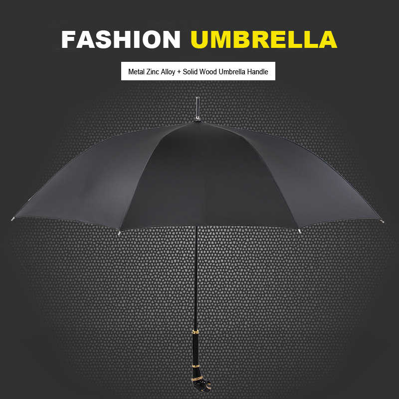Gentleman Parapluie pluie femmes hommes Parapluie créatif léopard Lion paraguay élégant parapluies pour scène spectacle Parasol
