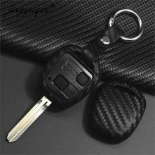 Jingyuqin Carbon Silikon Auto Schlüssel Abdeckung Fall für LEXUS RX300 ES300 TOYOTA CAMRY RAV4 PRADO COROLLA AVENSIS LAND CRUISER YARIS
