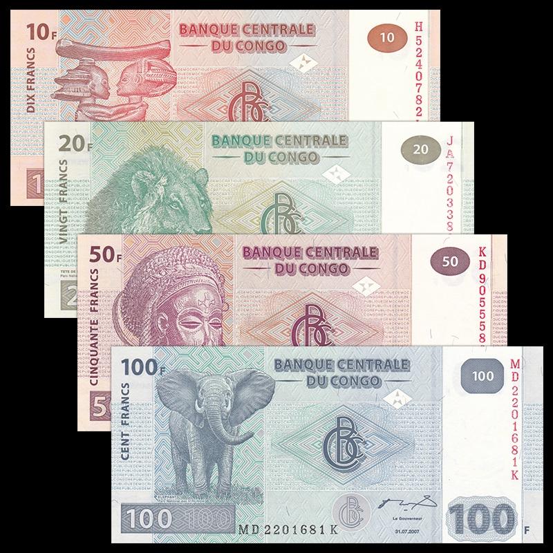 Congo Banknotes  Set of 5 Pieces Uncirculated